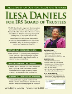 click image to download ILESA DANIELS campaign flier (letter size, black and white)