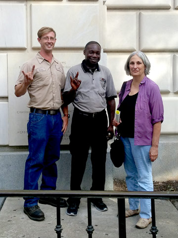 TSEU members Vanocur Edwards, Justin Hayes, and Anne Lewis